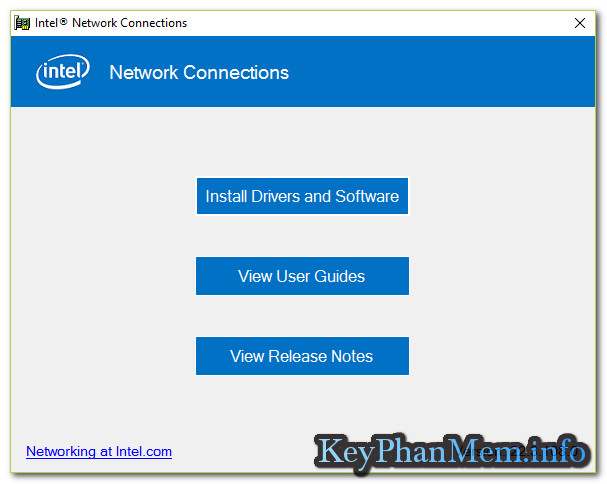 Download Intel Ethernet Connections CD 23.2,Đĩa Driver cài đặt mạng cho Card hãng Intel