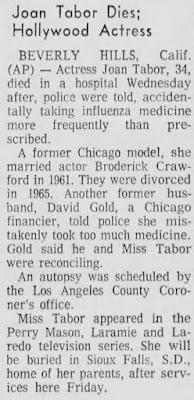Joan Tabor Death