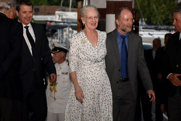 Queen Margrethe and Crown Prince Frederik attended a reception at the Yacht Club