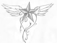 Nautical Star Tattoo Designs, Star with wings tattoo designs,Star tattoo designs