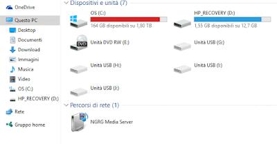 Come vedere quanto spazio hai su pc (Windows 10)