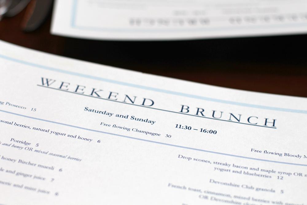 Weekend brunch at the Devonshire Club - London restaurant blog