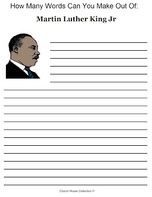 what word can i make out of these letters church house collection free martin luther king jr 25599 | Martin Luther King Jr Activity Sheet How Many Words Are In Martin Luther King Jr