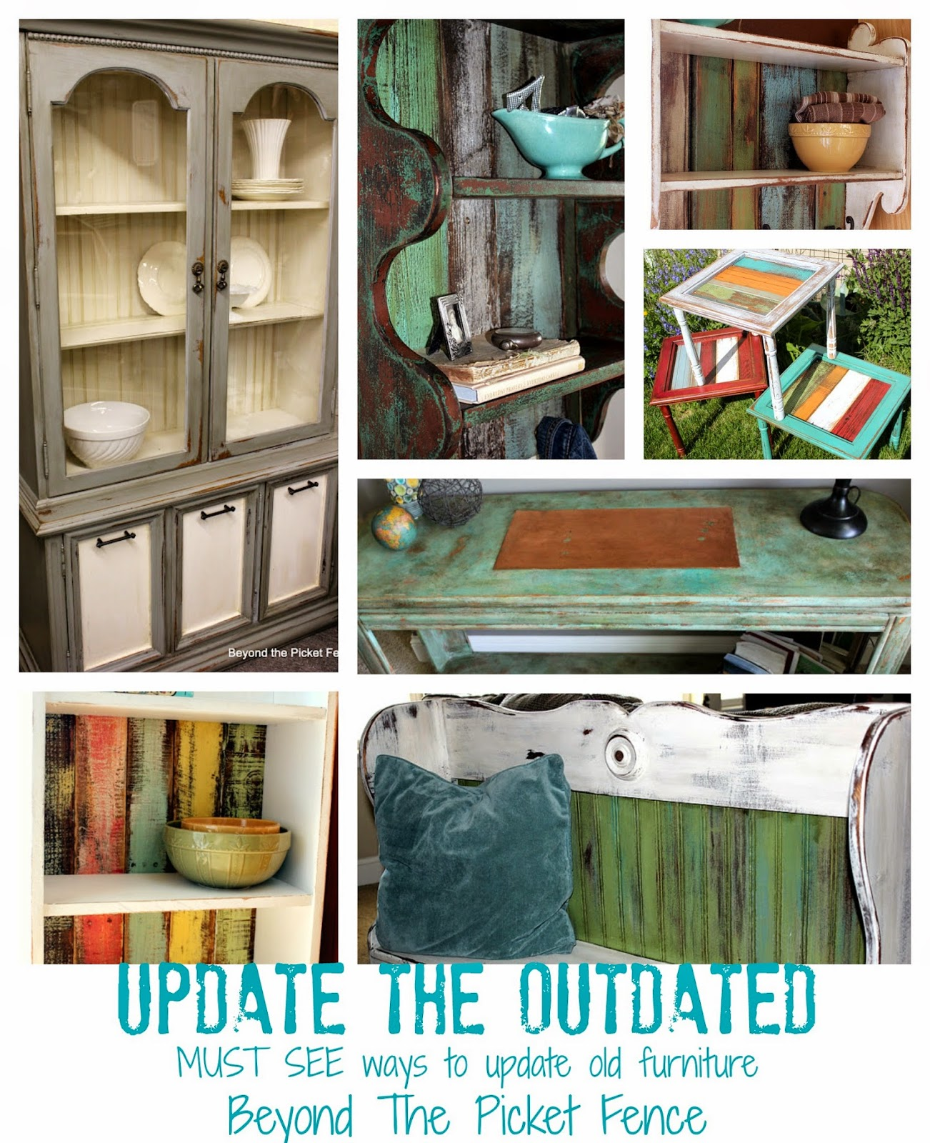 update outdated furniture http://bec4-beyondthepicketfence.blogspot.com/2014/09/updating-outdated.html