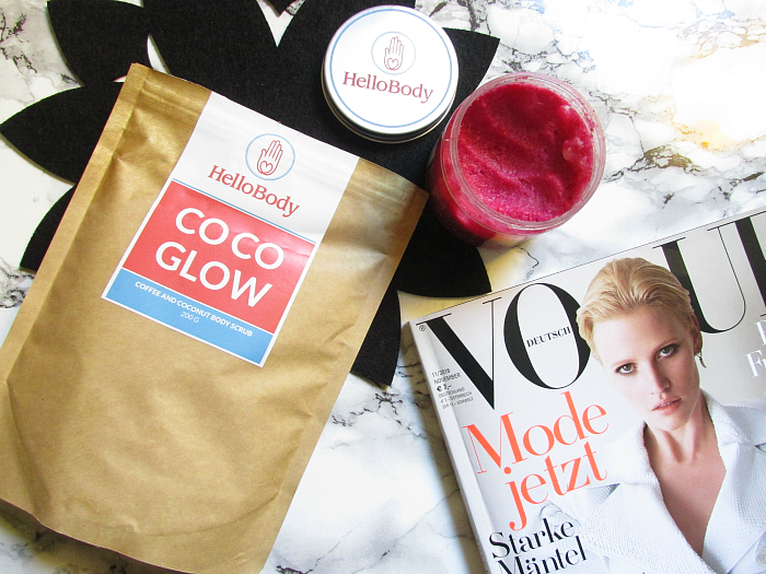 Review: HelloBody COCO GLAM Pink Body Scrub & Coco Glow Coffee und Coconut Scrub