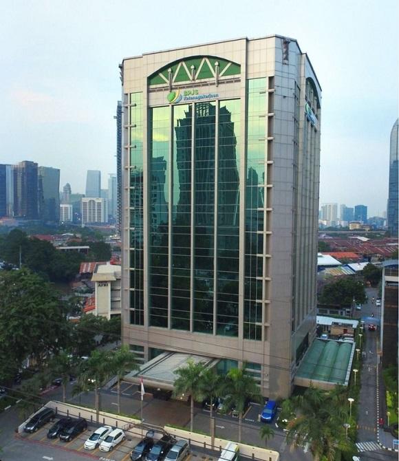 Gedung kantor pusat BPJS Kesehatan di Jakarta Pusat