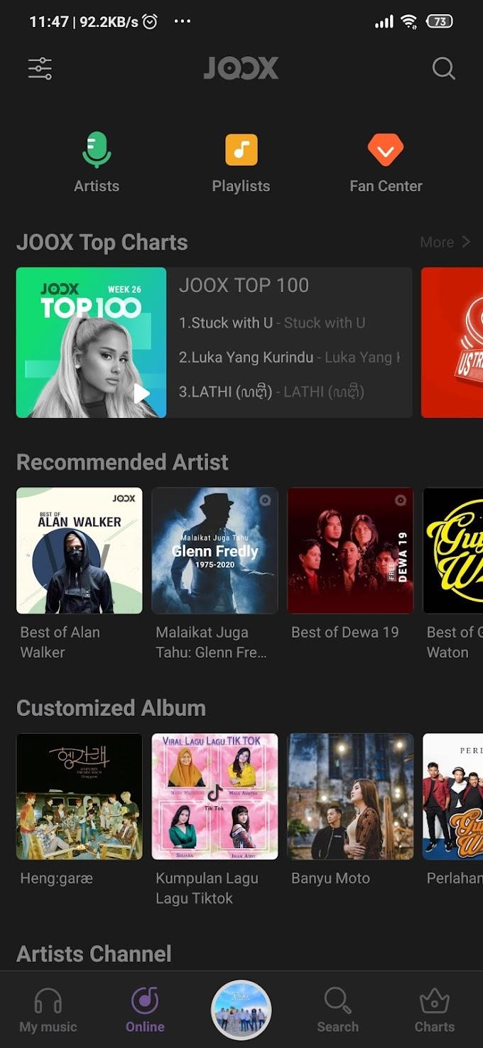JOOX VIP Gratis Resmi Untuk Xiaomi