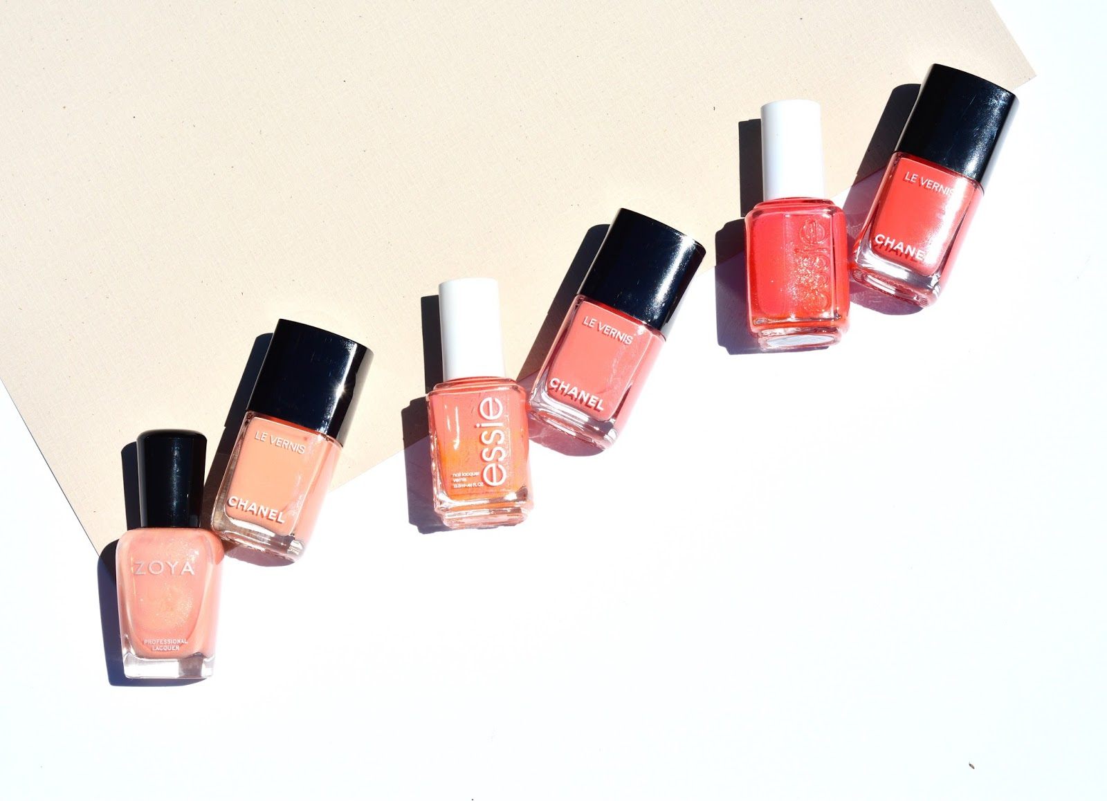 chanel summer 2017 cruise collection makeup review swatches nail polish dupe coquillage sea whip coralium