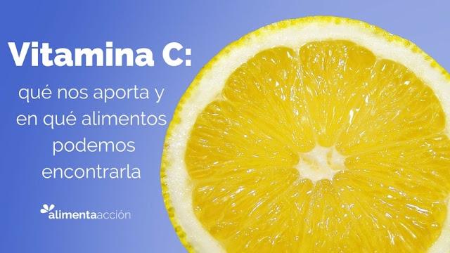 vitamina C, alimentos con vitamina C, salud, nutrición, alimentación