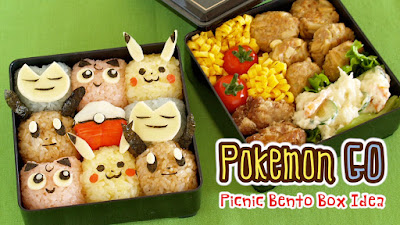 Pokmon go picnic bento lunch box video recipe create eat happy i think this is the bento lunch box you want to take with you when catching pokmon outside forumfinder Choice Image