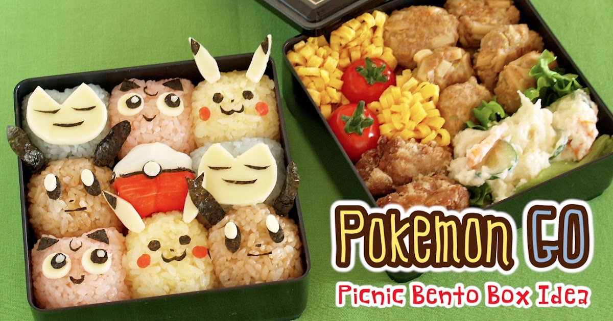 create eat happy pok mon go picnic bento lunch box video recipe. Black Bedroom Furniture Sets. Home Design Ideas