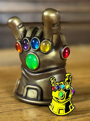 "Designer Con 2018 Exclusive Thanos ""Infinity Metal"" Metal Edition Resin Figure by Tracy Tubera"