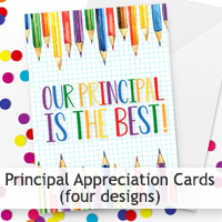 Principal Appreciation Cards