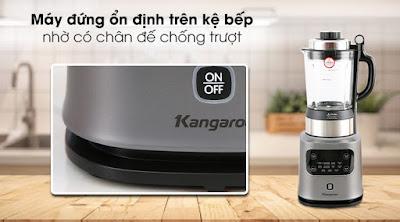 Máy xay nấu đa năng Kangaroo KG175HB1 - Giữ máy xay sinh tố ổn định trên mặt bàn, kệ nhờ thiết kế chân đế chống trượt