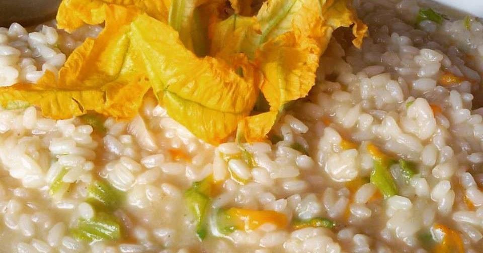 Risotto Spumante & Fiori di Zucca Una ricetta un po' vintage (ricetta vegetariana, ricetta facile)