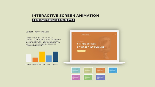 Interactive Screen Animation PowerPoint Template Slide 3