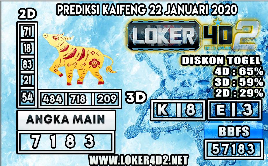 PREDIKSI TOGEL KAIFENG LOKER4D2 22 JANUARI 2020