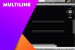 Cara membuat dinding menggunakan perintah Multiline di AutoCAD