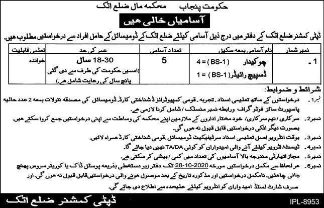 Revenue Department Latest Jobs Advertisement in Pakistan Jobs 2021