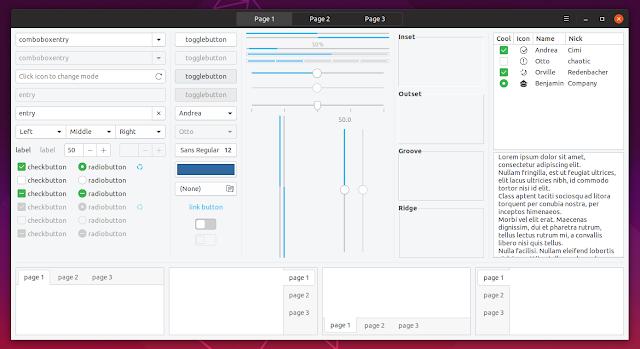 Yaru theme Ubuntu 19.04