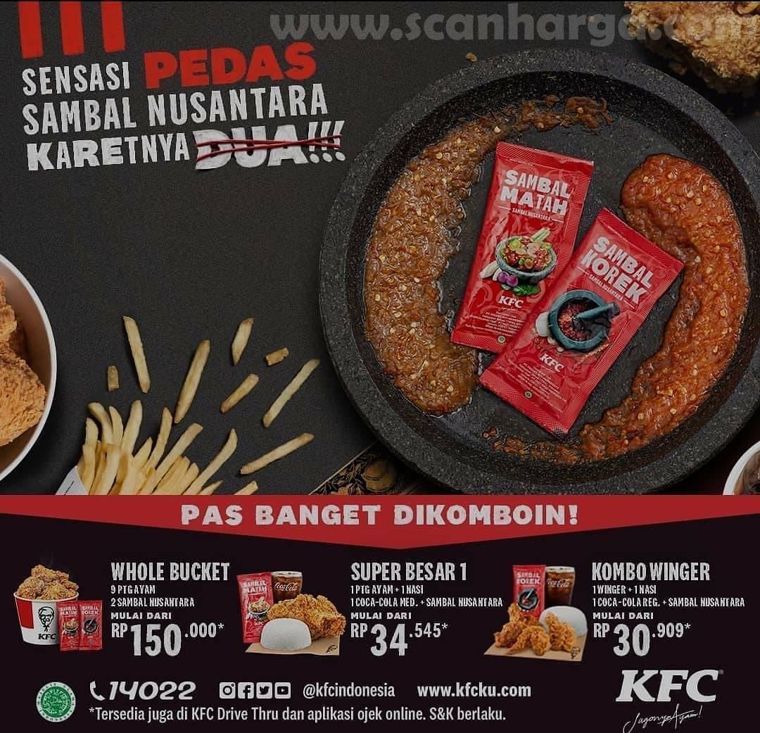 Menu SAMBAL NUSANTARA KARET DUA dari KFC
