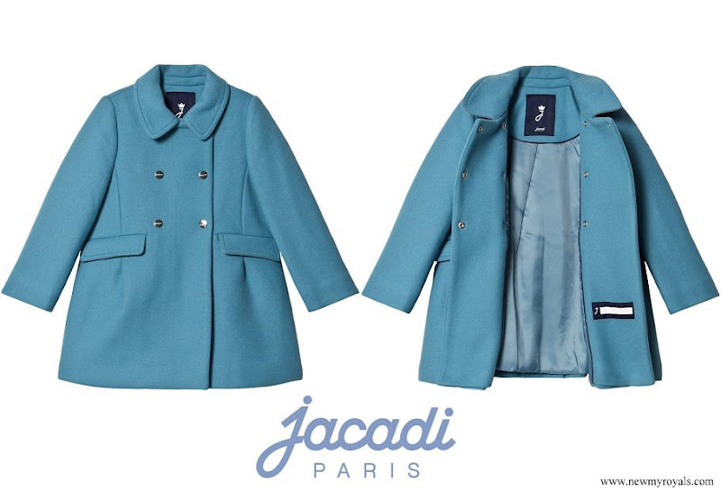 Princess Athena wore a JACADI Blue Wool Coat