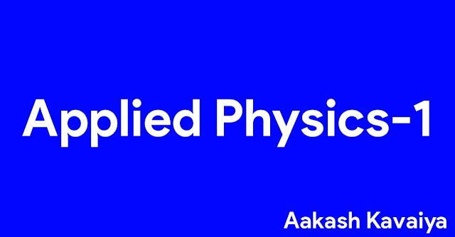 Applied physics-1 msutecho