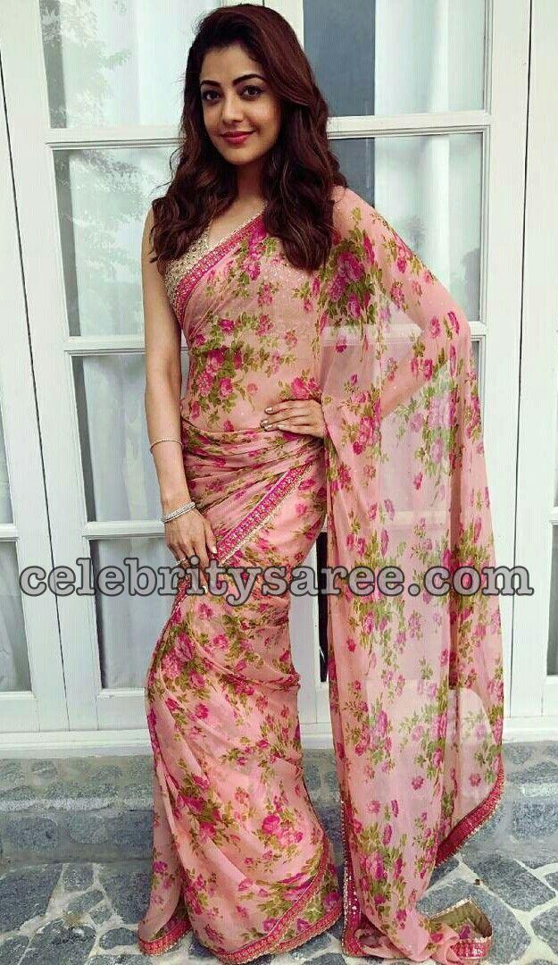 Kajal Floral Chiffon Saree