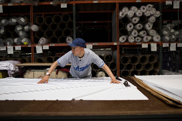 Creating a custom made Majestic Cool Base Jersey at the Easton, PA factory in America