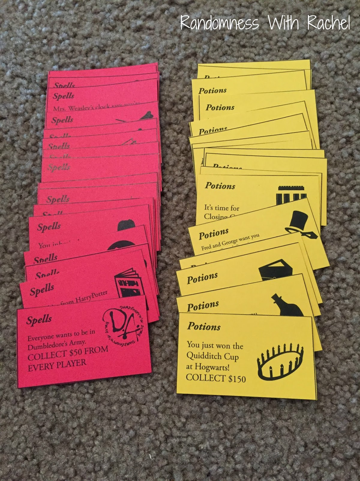No Credit Check Credit Cards >> Randomness with Rachel: Craft Project: Harry Potter Monopoly
