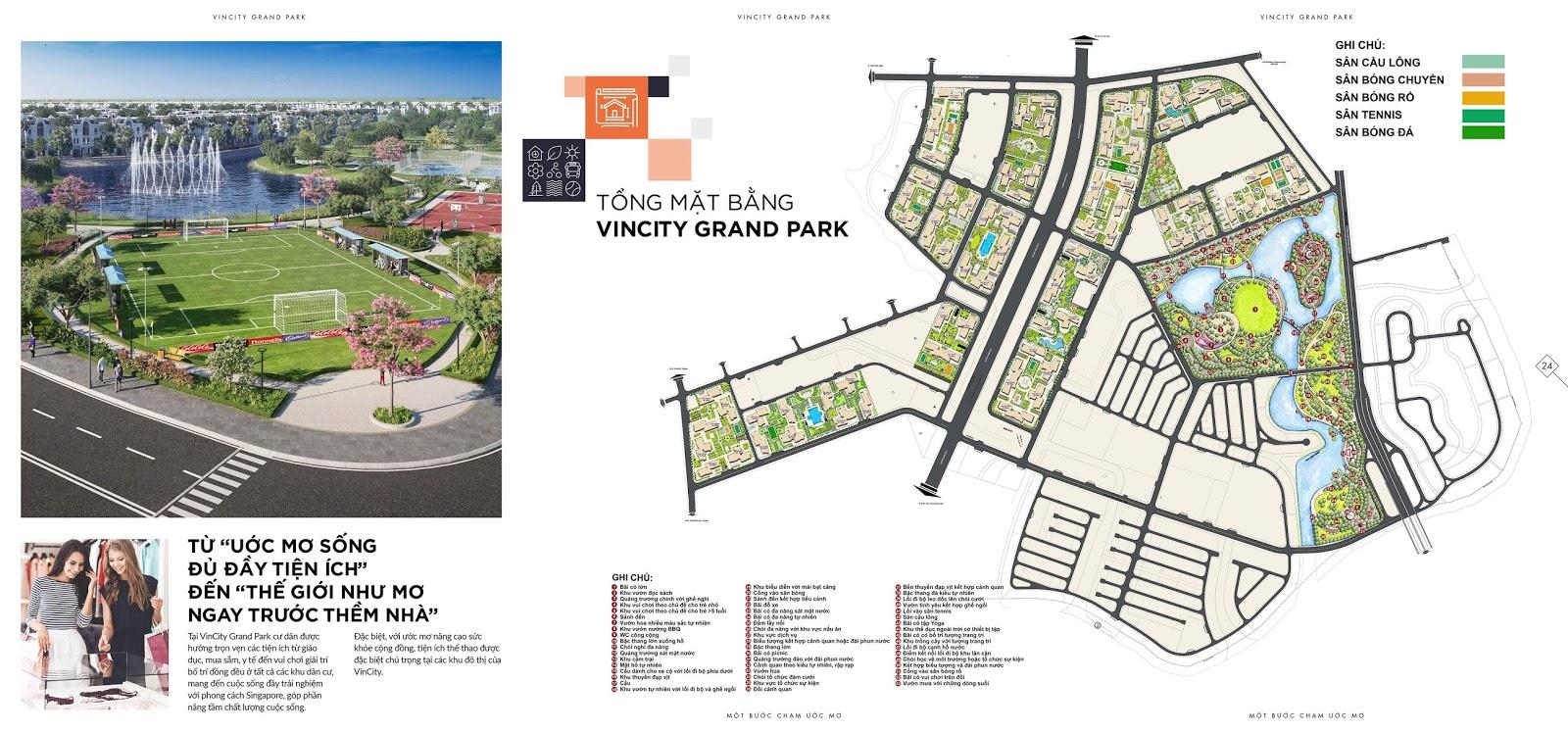Mặt bằng tổng quan dự án vincity quận 9
