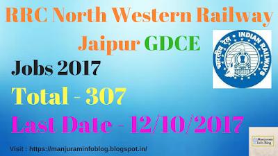RRC Jaipur Recruitment 2017