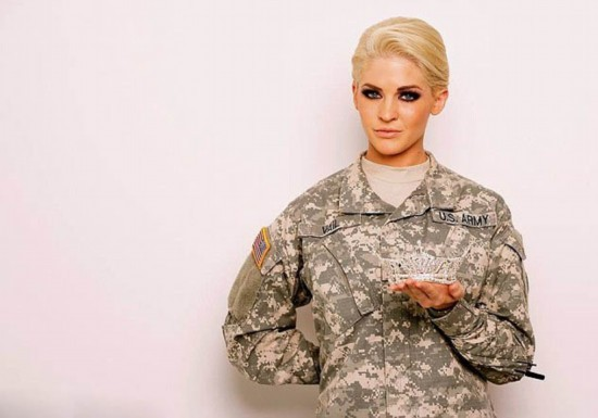 Us national guard sergeant theresa vail competes in miss for Tattoo requirements for national guard
