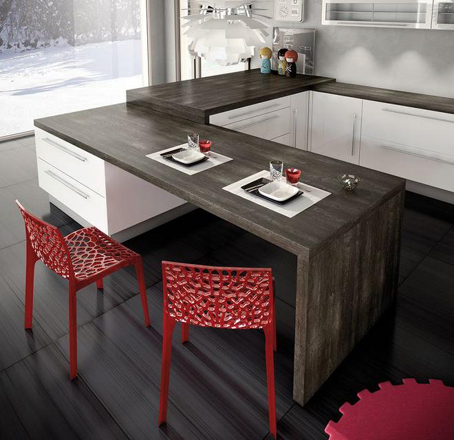 cuisine blanche l gante inspiration cuisine blanche. Black Bedroom Furniture Sets. Home Design Ideas