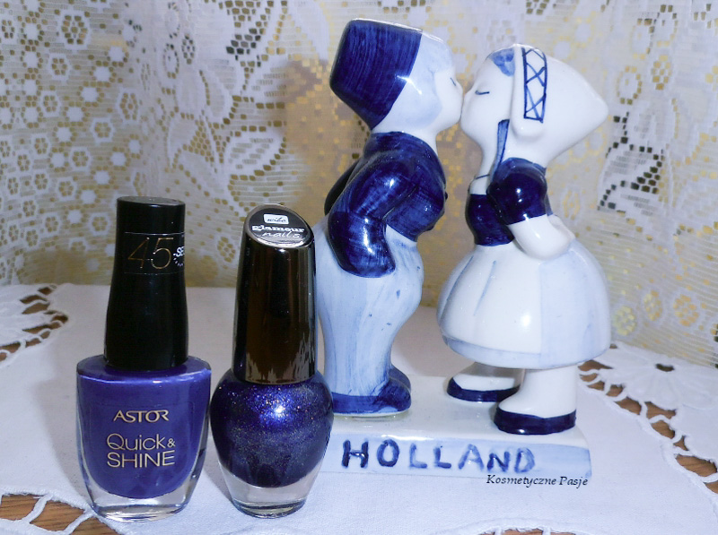 Wibo glamour nails nr 7 brokat granatowy