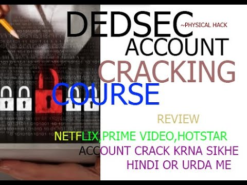 DEDSEC ACCOUNT CRACKING COURSE