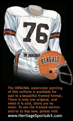 Cincinnati Bengals 1970 uniform