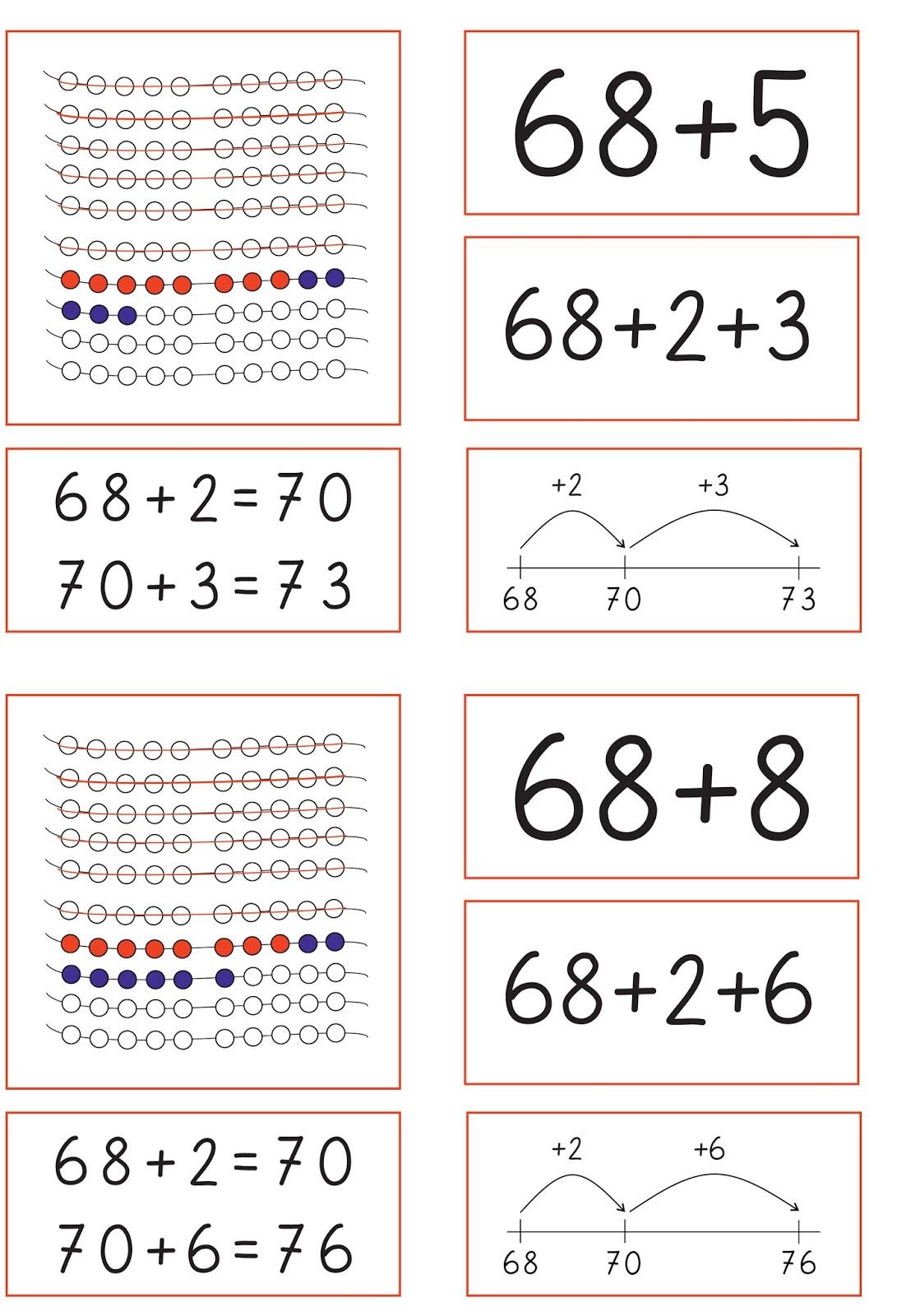 Lernstübchen: verschiedene Darstellungsformen zu Plusaufgaben über ...