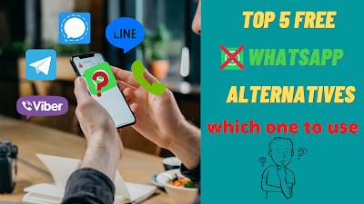 top 5 free WhatsApp alternatives