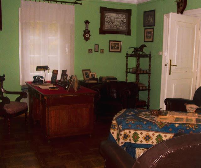 izba, skansen, Lublin, biuro, skóra, drewno, meble