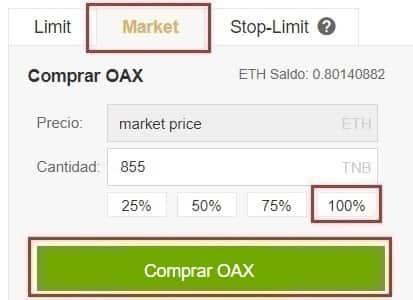 Comprar OAX Tutorial Paso a Paso Español