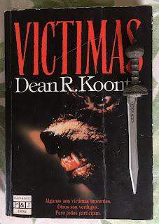 Portada del libro Víctimas, de Dean R. Koontz