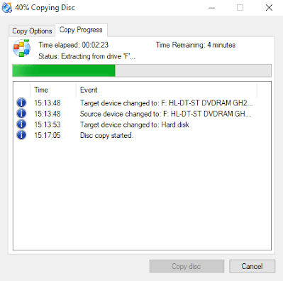 Copying Disc - CDBurnerXP