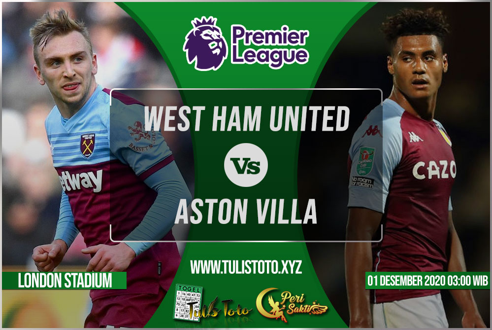 Prediksi West Ham United vs Aston Villa 01 Desember 2020
