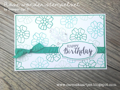 Stampin' Up! producten zijn verkrijgbaar via Caro's Kaartjes; carooskaartjes@hotmail.nl - Kijk voor meer inspiratie eens op www.carooskaartjes.blogspot.com