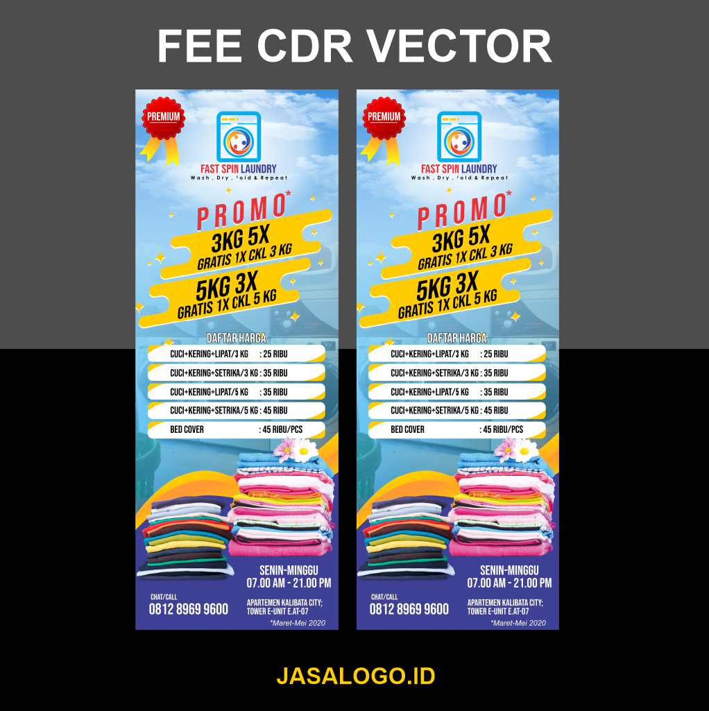 Template XBanner/Stand Banner Laundry CDR