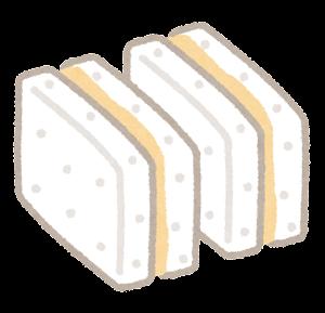 小さいピーナッツバターサンドのイラスト