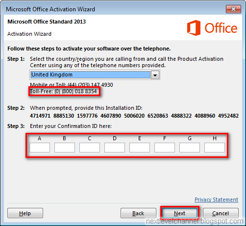 activation microsoft office 2013