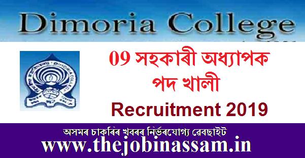 Dimoria College Recruitment 2019