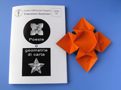 Origami, booklet QQM 60 and Fiore o stella 3 - Flower or star 3 © by Francesco Guarnieri